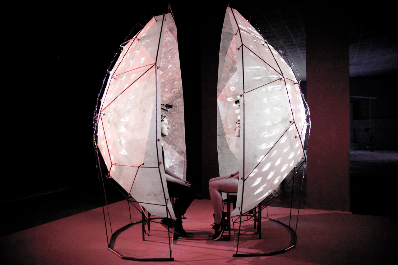 Pandelis Diamantides Mutual Wave Machine – Interactive Audiovisual Installation